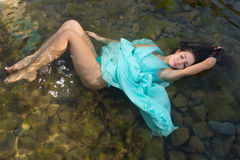Floating woman Royalty Free Stock Photography