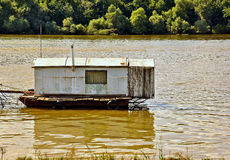 Floating wooden house Royalty Free Stock Image