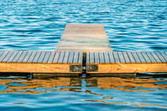 Floating wooden pier Royalty Free Stock Image