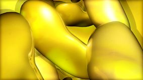 Floating yellow shape stock footage