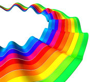 Floatingcolorful stripe abstract background. Floating colorful stripe abstract background 3d illustration Royalty Free Stock Image