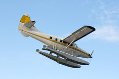 Floatplane. Arriving in Victoria BC Royalty Free Stock Photography