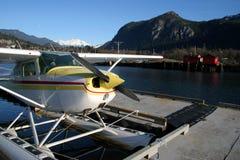 浮动的floatplane 免版税图库摄影
