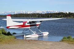 Floatplane on Beluga Lake. In Homer Alaska on a bright summer day Stock Photos
