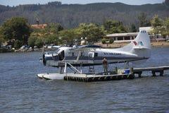 Floatplane, il Distretto di Rotorua, Nuova Zelanda fotografia stock