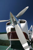 Floatplane Prop. Closeup view of a floatplane propeller Royalty Free Stock Photos