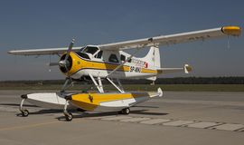 Floatplane. Or Seaplane static display in Air Base in Poznan Royalty Free Stock Photo