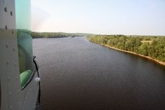 floatplanelandning Royaltyfri Foto