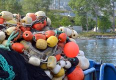 Floats and buoys Royalty Free Stock Photography