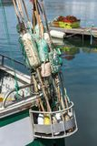 Floats for fishing net. Used floats for fishing net at the rear of the boat Stock Photography