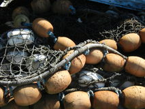 Floats and Fishnets Royalty Free Stock Image