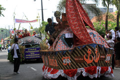 Floats parade. The parade floats in Karanganyar, Central Java, Indonesia Royalty Free Stock Image