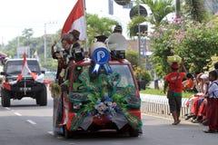 Floats parade. The parade floats in Karanganyar, Central Java, Indonesia stock image