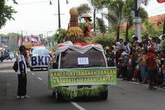 Floats parade. The parade floats in Karanganyar, Central Java, Indonesia stock photography