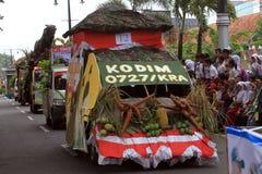 Floats parade. The parade floats in Karanganyar, Central Java, Indonesia royalty free stock image