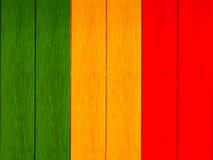 Floc jaune vert rouge de couleur Images libres de droits