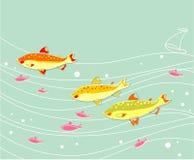 Flock av fiskar Arkivfoton