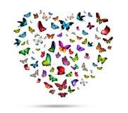 Flock av fjärilar royaltyfri illustrationer