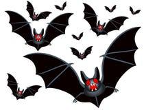 Flock of bats. Illustration of the bats flock Royalty Free Stock Photography