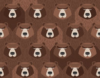 Flock of bears. Seamless pattern of animals.  Vector background Royalty Free Stock Photography