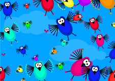 Flock of birds Stock Image