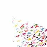 Flock of birds. Vector colorful background of a birds' flock Royalty Free Stock Image