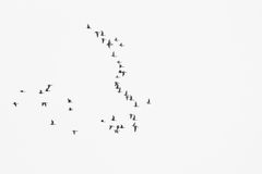 Flock of birds migrate to warmer climes / black and white photo. In retro style Royalty Free Stock Photos