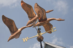 Flock of Ducks Weathervane Royalty Free Stock Photography