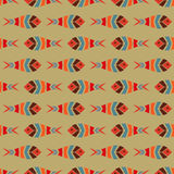 Flock of fish mosaic seamless pattern. Natural vector background Stock Photography