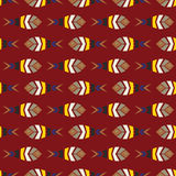 Flock of fish mosaic seamless pattern. Natural vector background Royalty Free Stock Photography