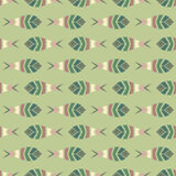 Flock of fish mosaic seamless pattern Stock Images