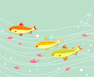 Flock of Fishes Stock Photos