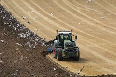 Agriculture - Farming - Plowing a field Royalty Free Stock Images