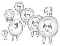 Flock of sheep/eps Royalty Free Stock Photo