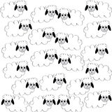 Flock of sheep on white background. Vector illustration Royalty Free Stock Images