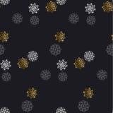 Flocke des nahtlosen Musters des Schnees stock abbildung