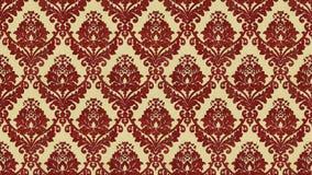 Flocked damask style vintage pattern Royalty Free Stock Image