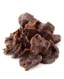 Flocken in der Schokolade lizenzfreie stockfotos