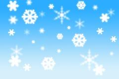 Flocken des Schnees 3d Lizenzfreie Stockfotografie