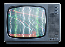 Flockiger Fernsehapparat Stockfoto