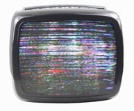 Flockiger Fernsehapparat Stockfotos