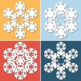 Floco de neve abstrato decorativo Fotografia de Stock Royalty Free