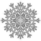 Floco de neve antistress tirado mão Fotos de Stock