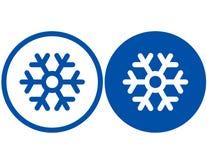 Floco de neve azul ilustração stock