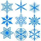 Floco de neve azul Fotografia de Stock Royalty Free