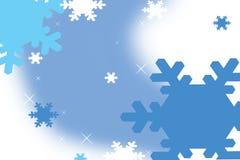 Floco de neve azul Imagens de Stock Royalty Free