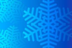 Floco de neve azul da abstração, ano novo e Natal Imagens de Stock