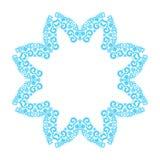 Floco de neve azul feito com elementos do ornamento Fotos de Stock Royalty Free