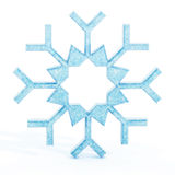 Floco de neve azul isolado Imagem de Stock Royalty Free