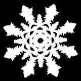 Floco de neve branco em um fundo preto fotos de stock